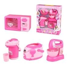 4pcs Children's mini Educational Kitchen Household Appliances Toys Household Appliances Play Kitchen For Kids Girls Gift Toy