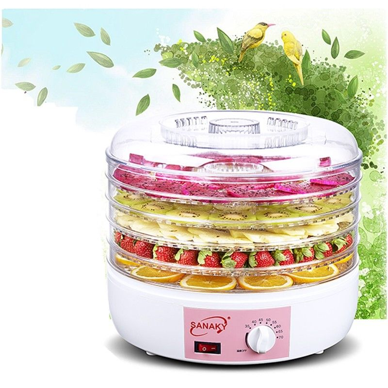 5 Tray Electric Food Dehydrator Fruit Vegetable Dryer Beef Snack Jerky 220V New 220v multifunction food dehydrator transparent 5 tray electric dried fruit machine fruits vegetable food dryer deshidratado