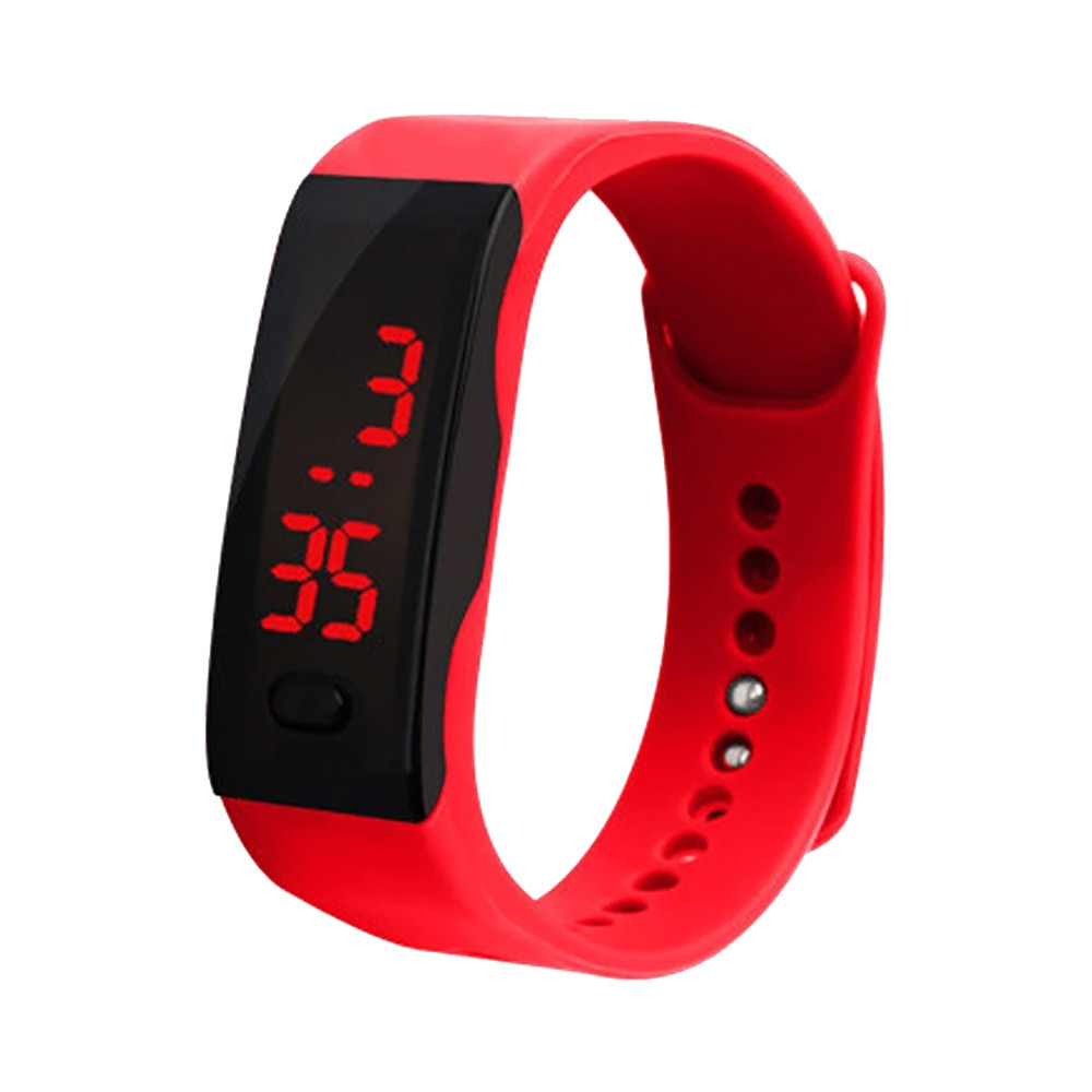 LED Digital Display Bracelet Watch Children's Students Silica Gel Sports Watch Men LED Digital  Action Watch Bracelet L1127