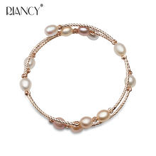 Fashion Charm Double layer Bracelet Natural Freshwater Multicolor Pearl Jewelry for Women wedding gift