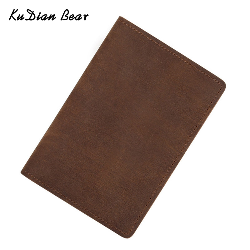 KUDIAN BEAR Шкіряний паспорт Обкладинка чоловіки Rfid Власник паспорта Мінімалістський дизайнер Подорожі Паспорт Гаманець для документів