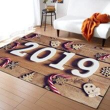 1PC Polyester 2019 Pattern for Living Room Kitchen Mat Bedroom Carpet Floor Door Decoration