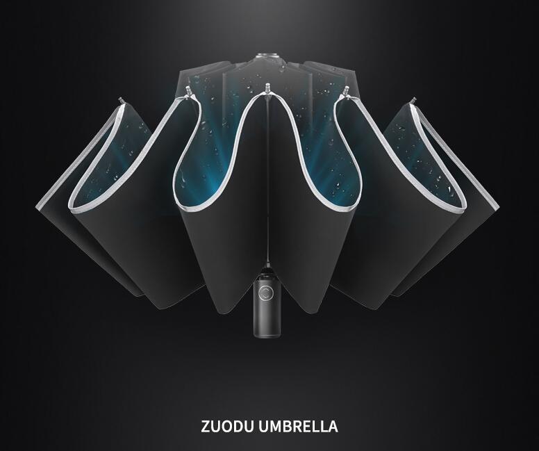 Voiture rétractable entièrement automatique pour hommes avec parapluie inversé femme pluie et pluie parapluie pliant double usage livraison gratuite