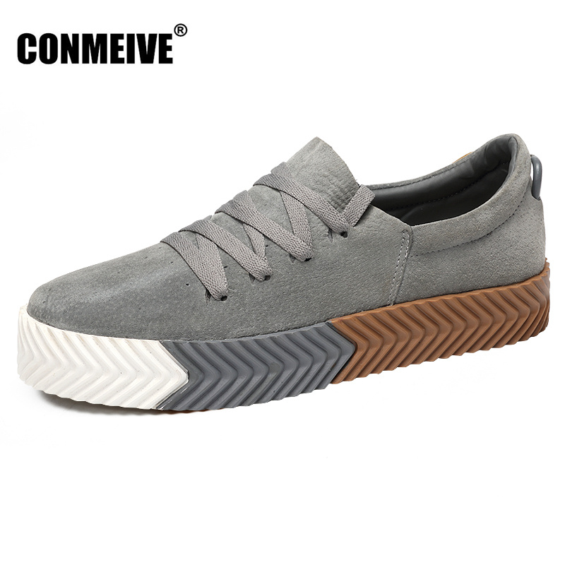 new arrival Shoes Men Genuine Leather Lace-Up Mens Casual Handmade Fashion Luxury Brand Flat Breathable Winter Flats Male Shoe new fashion men luxury brand casual shoes men non slip breathable genuine leather casual shoes ankle boots zapatos hombre 3s88