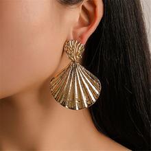 Новые богемные серьги из розового золота капли ракушки для женщин