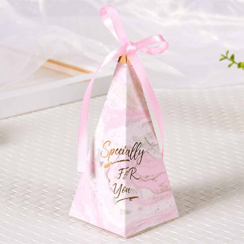 10pcs Sweet Candy Box Wedding Gift Guests Paper Box Baby Shower Favor Boxes with Ribbon Bride Wedding Party Decorations Supplies in Gift Bags Wrapping Supplies from Home Garden