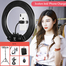 Photo Studio 14 308pcs LED 3Color3200K-5600K Dimmable Photography Phone Video LED Ring Light Lamp With Tripod Stand For Camera
