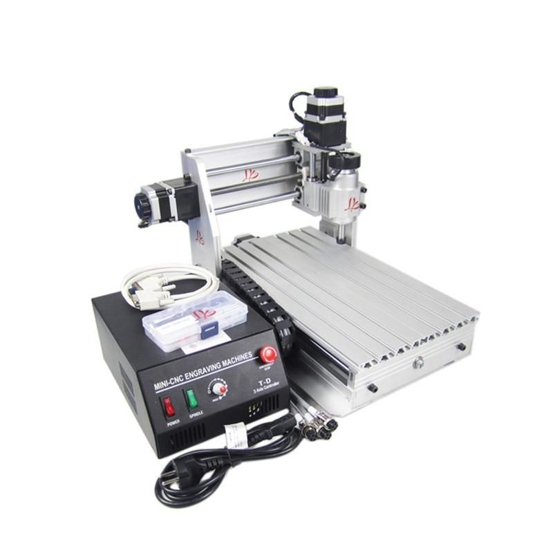 3020 T-DJ Mini milling machine 3 axis CNC router lathe wood pcb plastic working Числовое программное управление