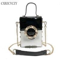 2018 Brand Famous Handbag Box Tote Bag Women Luxury Shoulder Bags Designer Crossbody Messenger Bags For