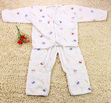 hot deal buy summer autumn newborn baby warm clothing set toddler baby boys girls pajamas girl clothing sets cotton long sleeves kids leisure