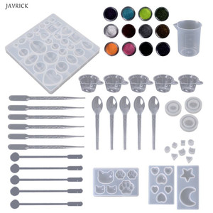 Silicone Mold Jewelry Epoxy Mould Tool Set For DIY Craftsmanship Nail Art Pendant Glitter Powder Decoration Handmade Making Tool