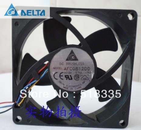 Para delta AFC0812DD 8CM 80MM 80*80*20MM 8020 12V 0.75A 4P alta -velocidade do ventilador de Refrigeração