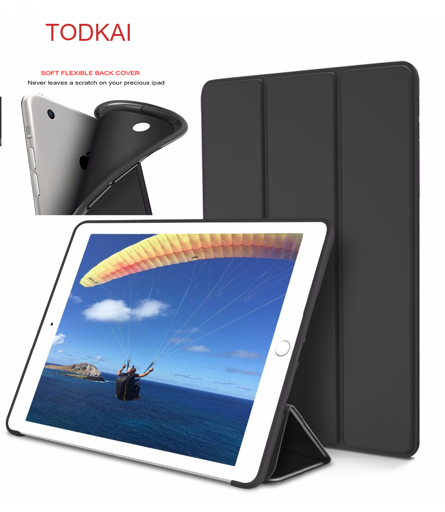 For iPad 9.7 2017 Silicone Case Magnetic Case for ipad air 1 air 2 Smart Cover Soft TPU Case PU Flip Stand Auto Sleep/Wake free shipping 40pcs lot lcd tv plasma tube rjp63k2 new original