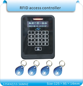 Free shipping K08a with touch led 125KHZ RFID + password  access/access control swipe card +10pcs keycards.