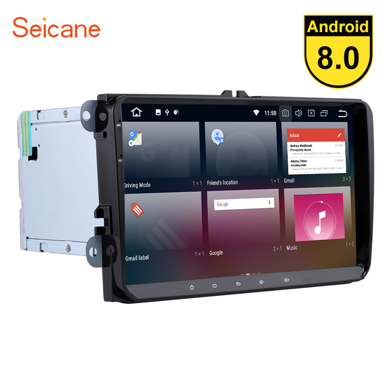 Seicane 9 inch 2 din Android 8.0 8-core Car Radio GPS Navigation for VW Volkswagen Passat B5 B6 Golf plus mk5 Jetta POLO Tiguan автозапчасть b5 1 8t 2 0 v6 2 8