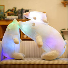Colorful Flash LED Plush Toy Polar Bear Luminous Toy Light-emitting Kids Doll Soft Animal Stuffed Pillow Cute Gift for Children(China)