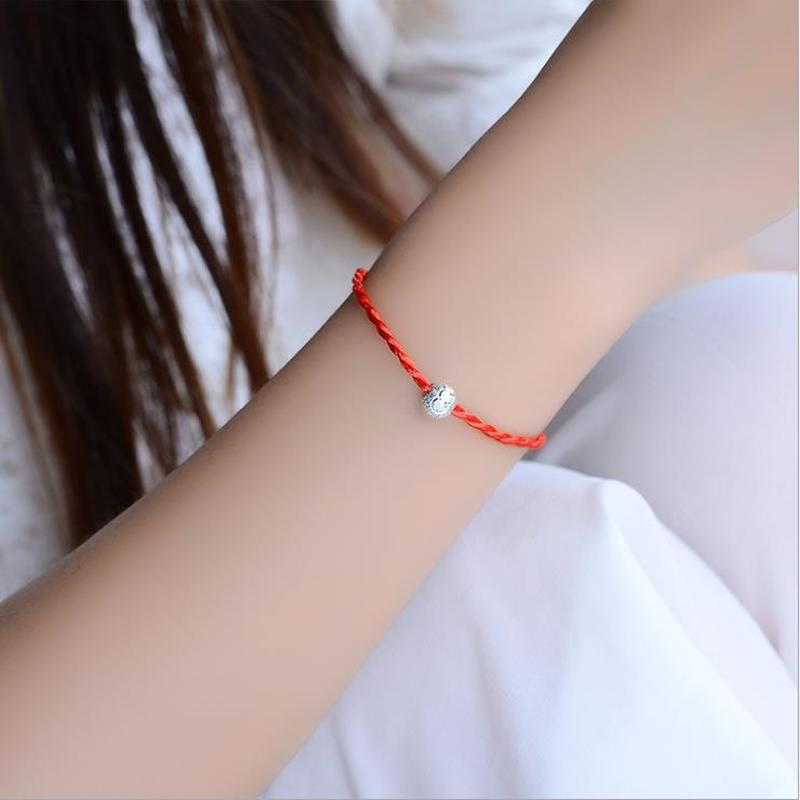 Everoyal New Arrival Lady Red Rope Bracelets For Women Jewelry Trendy Silver Lucky Ball Anklets Girl Engagement Bijou Gift