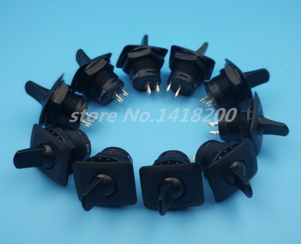10Pcs High quality SCI R13-402 Round 2Pin ON-OFF SPST 2Position Toggle Switch 3A 250VAC g126y 2pcs red led light 25 31mm spst 4pin on off boat rocker switch 16a 250v 20a 125v car dashboard home high quality cheaper