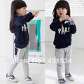 Free shipping Hot selling 1piece/lot 100% cotton Girl's Hoodies Tracksuits Sweater shirts 00060