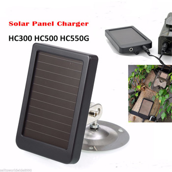 Macchina Fotografica di caccia 9 v Pannello Solare Power Pack Caricatore Esterno Della Batteria di Alimentazione per il Trail Cam HC300 HC300M HC500G HC500M Solare batteria