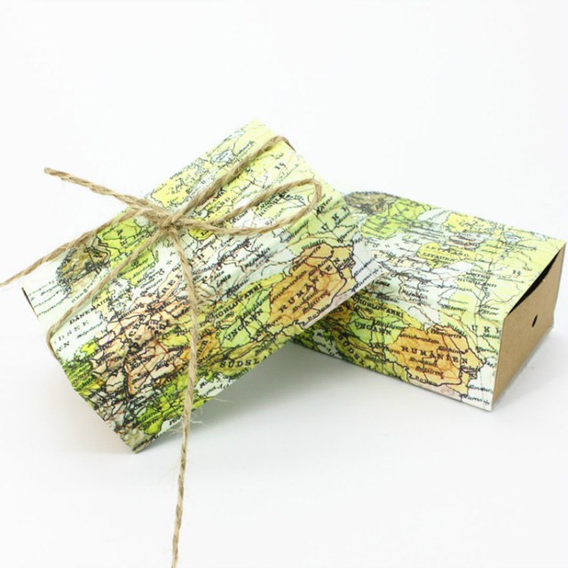100pcslot vintage wedding candy box kraft paper world map gift bag 100pcslot vintage wedding candy box kraft paper world map gift bag for wedding favors gumiabroncs Image collections