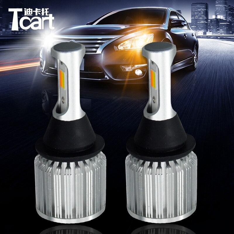 Tcart 30 W dual color indicatore di direzione & DRL daytime running luce T20 WY21W 7440 Py21W BAU15S BA15S 3157 3457 7443 7440 auto luce