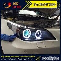 Автозапчасти Стиль светодиодный налобный фонарь для BMW E60 520 523 525 530 светодиодный фары drl Биксеноновая разрядная лампа высокой интенсивности