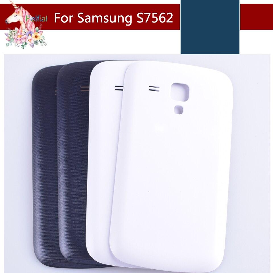 10 S7562 pçs/lote Para Samsung Galaxy Tendência Duos 7562 S7560 7560 Chassis Habitação Tampa Traseira Porta Da Bateria de Volta Caso de Habitação