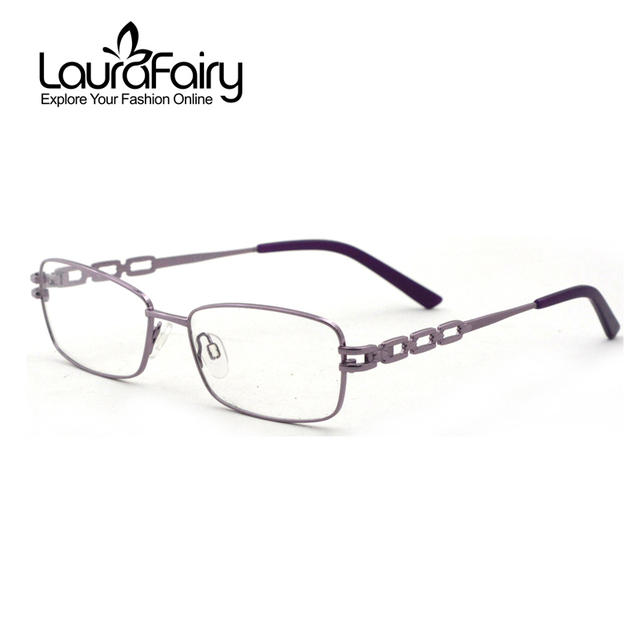 Laura Fairy Women\'s Stainless Steel Optical Frames Purple Color ...