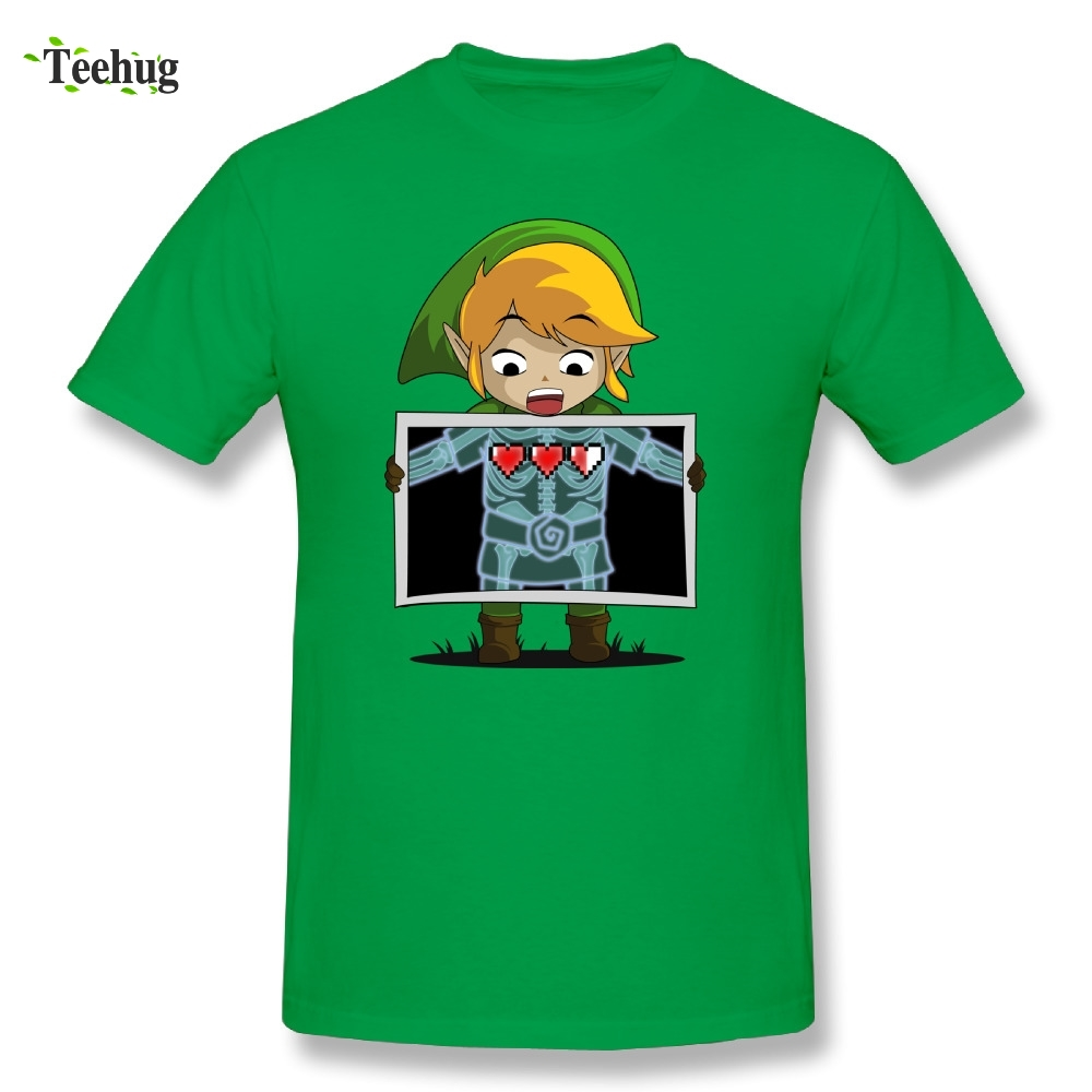 The Legend Of Zelda T Shirt Funny Design Links X-ray T-shirt Cotton O-neck Tee Shirts