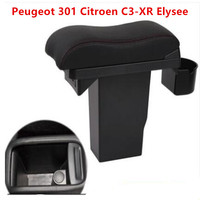 Para peugeot 301 citroen C3 XR elysee caixa de apoio braço universal central armazenamento acessórios modificação|Braços| |  -