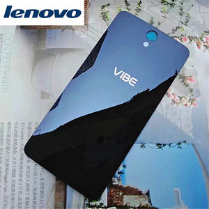 Tempered glass S1a40 Original Housing For Lenovo Vibe S1 A40 Glass Battery Back Cover Mobile Phone Replacement Parts Case(China)