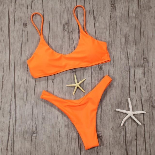 3ac1274fa5 Thong Micro Sling Bikini Set Swim Bathing Suit Swimwear Women Swimsuit Sexy  2019 Bather Push up