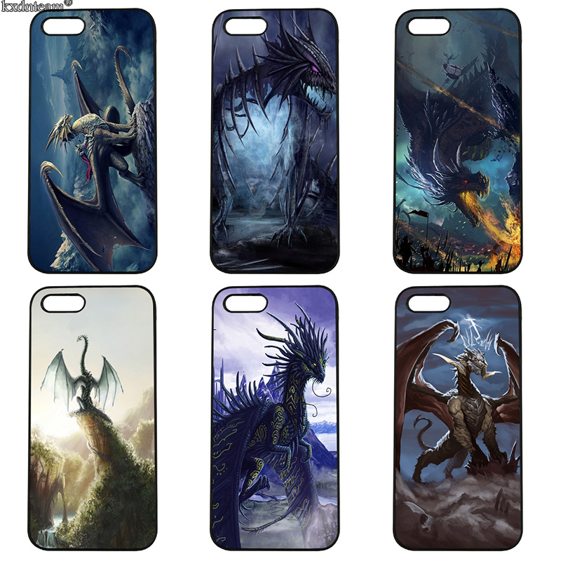 Fashion Fantasy Dragon Mobile Phone Case Hard PC Cover Fitted for iphone 8 7 6 6S Plus X 5S 5C 5 SE 4 4S iPod Touch 4 5 6 Shell