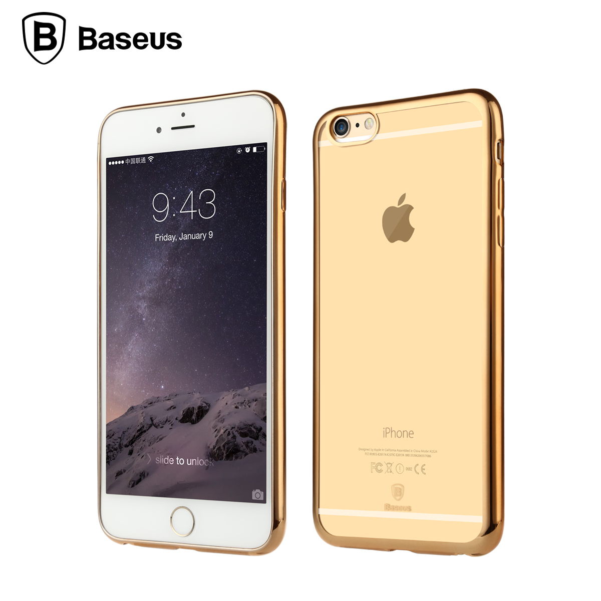 Baseus For iPhone 6 6s Case Shining Arc Edge Plating Cover Shell Luxury Soft TPU Gel Case For iPhone 6 Plus 6s Plus
