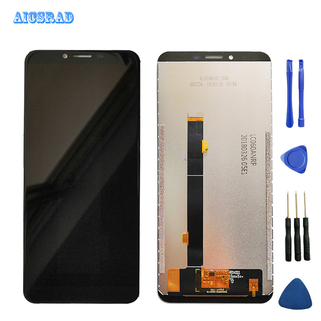 AICSRAD original 2160*1080 black for Cubot X18 plus LCD Display +Touch Screen assembly Replacement For x18plus x 18+tools
