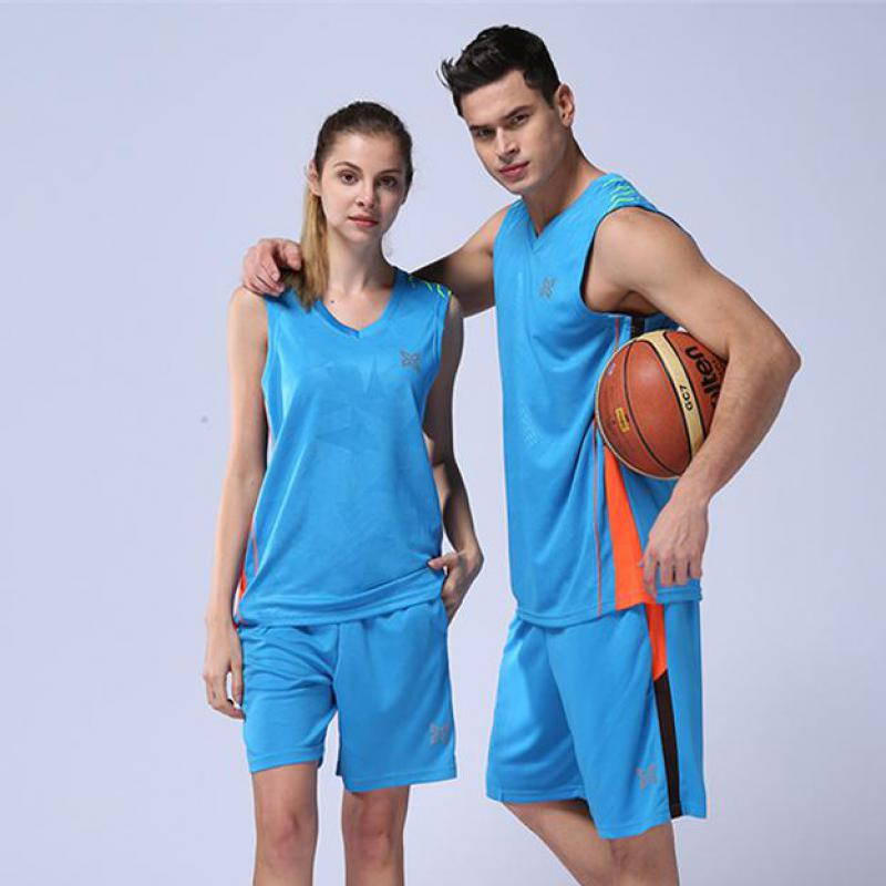 5e53d717dbe Women 2pcs Basketball Jersey Dresses Quick Dry Men Basketball Clothes  Couple Athletics Sports Jersey Uniform Custom Print Jersey