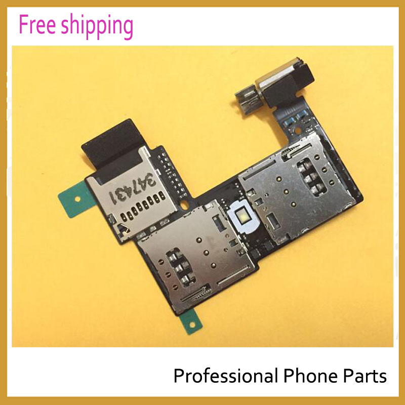 Original dual Sim Card Reader Connector Slot Tray Holder Flex Cable For Motorola Moto G2 G 2 2nd Gen XT1063/4/8/9
