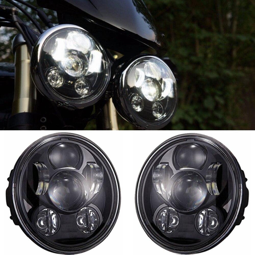 Dos luces de accesorios de motos chrome faro redondo cruceros triumph rocket iii