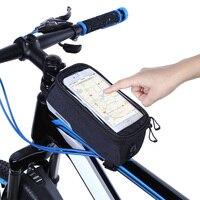 ROSWHEEL Large Capacity Bicycle Bag Touch Screen Phone Bag Bike Case Cycling Bike Top Tube Wrap