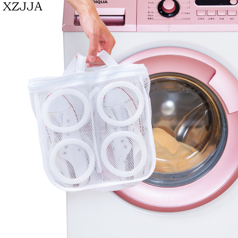 XZJJA Creative Can Be Drying Mesh Shoes Care Wash Bags Bra Underwear Baskets Mesh Bag Household Cleaning Kits