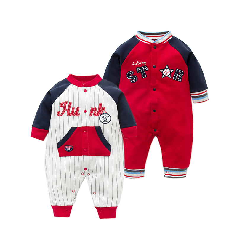 New Fashion Baby Rompers 2018 Newborn jumpsuits Baby Boy Girl Clothes Long Sleeve Soft Cotton Baby Clothing All Star Printed