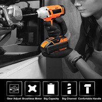 Cordless Electric Impact Wrench Drill 320N/m 20V 16000mAh Battery Lithium ion Brushless Power Tool Nut Torque Wrench Set