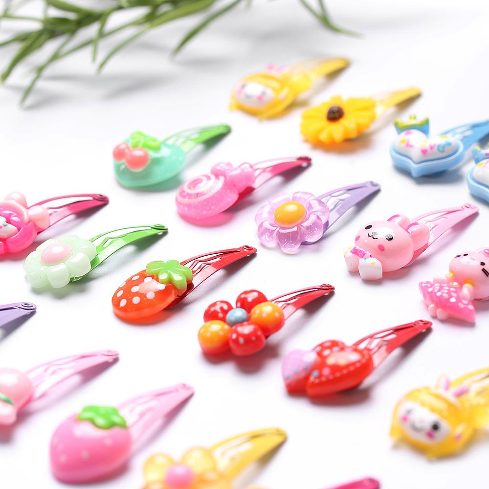HTB1ow1SRXXXXXc7apXXq6xXFXXXr 12-Pieces Mix Colorful Fruit Flower Star Animal Fish Ribbon Heart Candy Hair Accessories For Girls