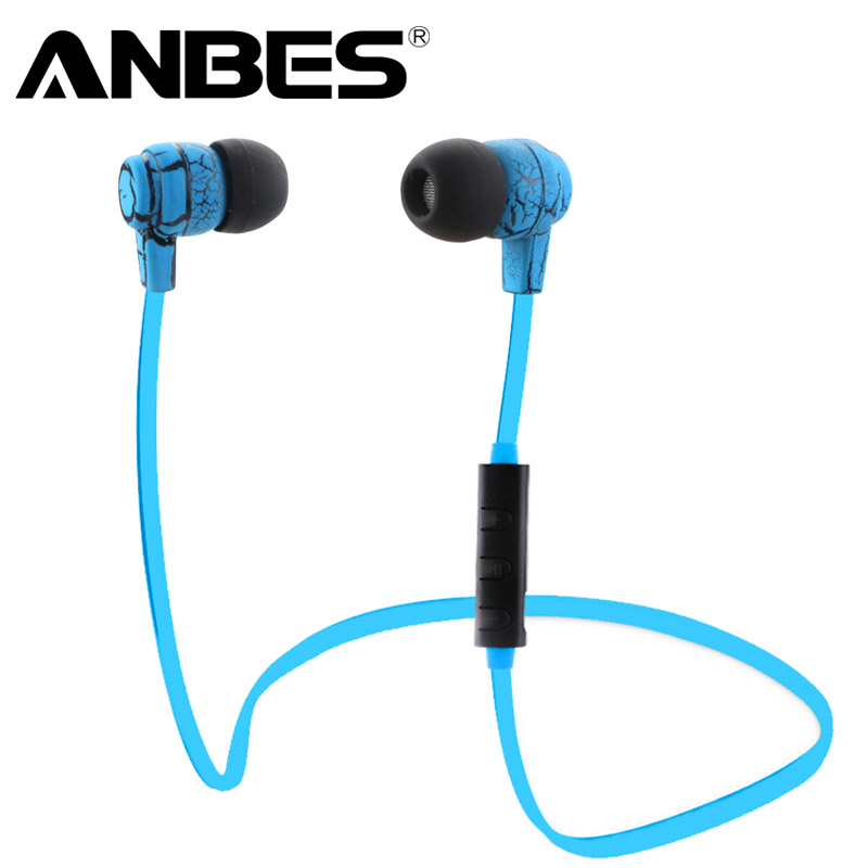 ANBES Bluetooth Earphones In-ear Headphones Earbud 4.0 Wireless Sport Stereo Headset with Microphone For iPhone Samsung Xiaomi oneaudio original on ear bluetooth headphones wireless headset with microphone for iphone samsung xiaomi headphone v4 1