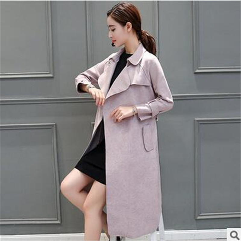 vent 2017 Mode Vêtements Suede Ol Slim Qualité Tempérament Veste gray Grande Femme Faux Pink Dame Coupe Taille Nouvelle Élégante Haute Ok45 Nnm8v0w