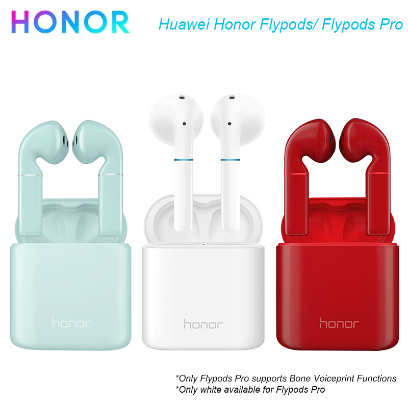 Écouteurs Bluetooth Flypods Pro TWS Honor Flypods avec casques étanche à la poussière pour Huawei/Honor Bone Voiceprint paiement