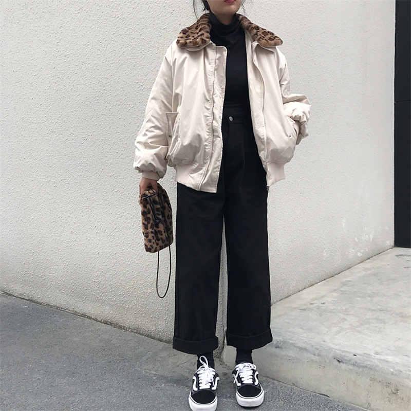 Женские брюки Alien Kitty, свободные тонкие брюки с высокой талией на весну и осень 2019