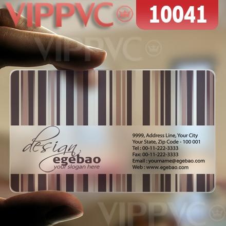 10041 fedex business cards - matte faces transparent card thin 0.36mm