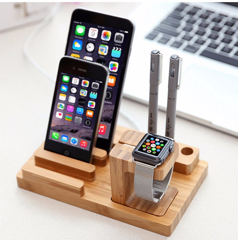 For iPhone Apple iWatch Wood Charge Holder (13)